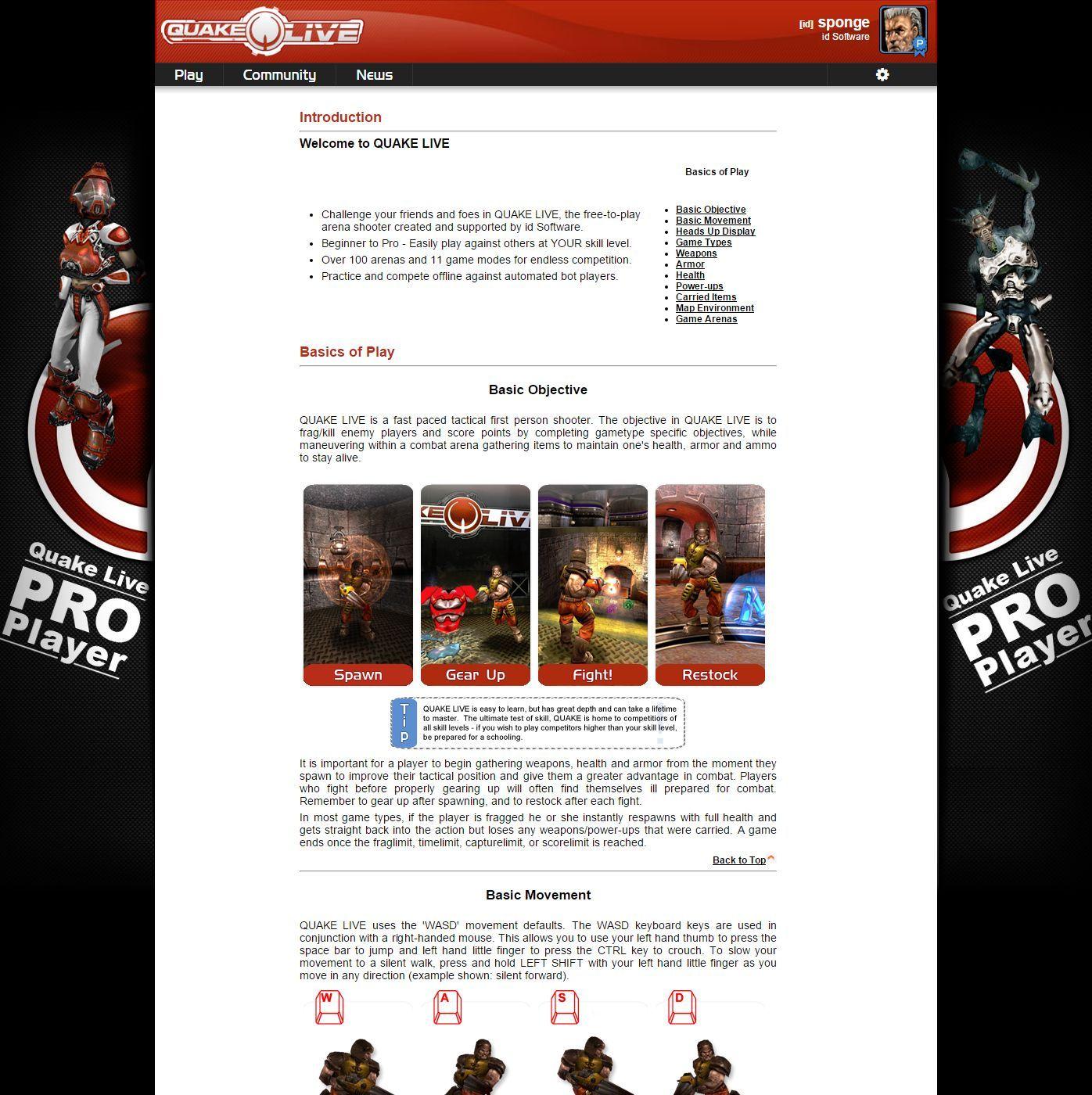Quake Live Web (2009-2016) — d8d